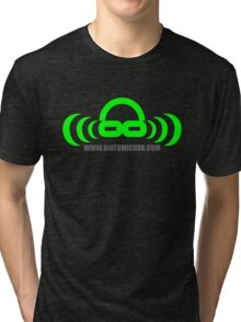 Dj atomic Green logo with URL Tri-blend T-Shirt