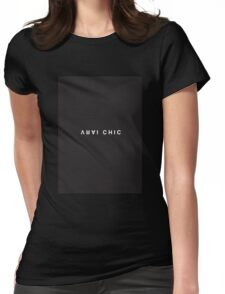 Vrai Chic Minimalist Black and White - Trendy/Hipster Typography Womens Fitted T-Shirt