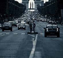The Champs Élysées  by Andrew Leitch