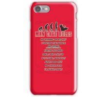 Man Cave Rules iPhone Case/Skin