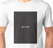 Milan Minimalist Black and White - Trendy/Hipster Typography Unisex T-Shirt