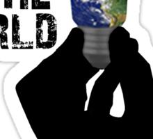 light up the world Sticker