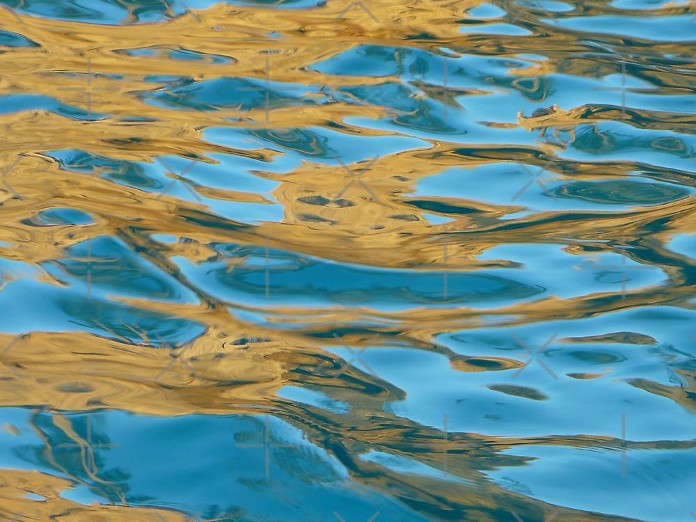 golden turquoise jewel  by Linda Bianic