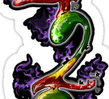 420 vert Sticker
