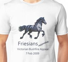 Friesians supporting bushfire relief Unisex T-Shirt