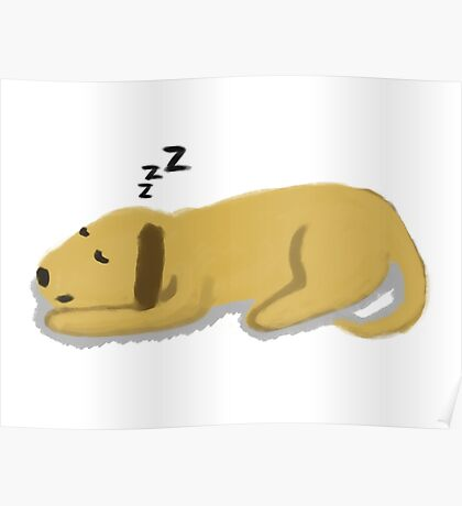 Sleepy Dog Poster