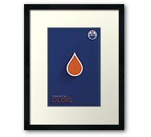 Edmonton Oilers Minimalist Print Framed Print