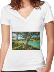 Perfect For a Picnic Women's Fitted V-Neck T-Shirt