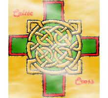 Celtic Cross In Oil Relief Photographic Print