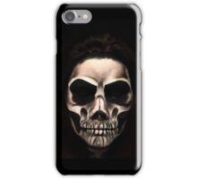 Spooky Scary Human Bone Skull  iPhone Case/Skin