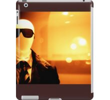 Portrait of male shop dummy store fashion mannequin sepia black and white film silver gelatin analogue iPad Case/Skin