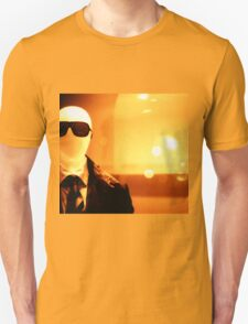 Portrait of male shop dummy store fashion mannequin sepia black and white film silver gelatin analogue Unisex T-Shirt