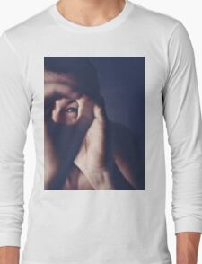 Self portrait photographer Edward Olive ra4 darkroom handmade print c41 color negative analog film photo Long Sleeve T-Shirt