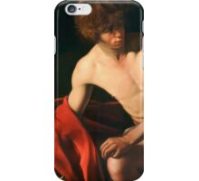 John the Baptist - Caravaggio 1604 iPhone Case/Skin