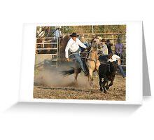 Steer Roper Greeting Card