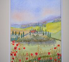 'Tuscan Poppies' : £50 by Patricia Welsh