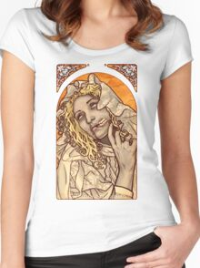 Mucha Zombie Shirt Women's Fitted Scoop T-Shirt