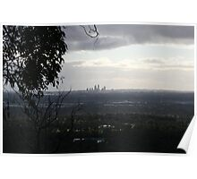 View from perth hills. Poster