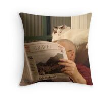 Armchair Travellers! Throw Pillow