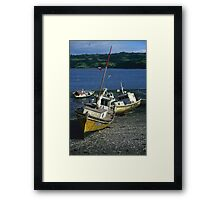 Fishing boats, Chiloe, Chile Framed Print