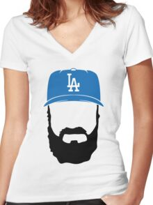 fear the beard Women's Fitted V-Neck T-Shirt
