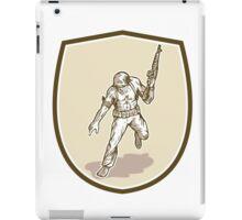 American Soldier Serviceman Armalite Rifle Cartoon iPad Case/Skin