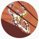 Amateur Boxer Winning Circle Cartoon by patrimonio