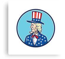 Uncle Sam TopHat American Flag Cartoon Canvas Print