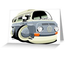 VW bay window T2 bus Greeting Card