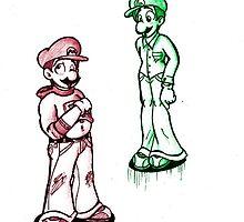 Mario & Luigi by AxelAlloy