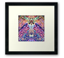 Faces In Abstract Shapes 8 Framed Print