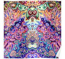Faces In Abstract Shapes 8 Poster