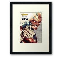 Captain Britain  Framed Print
