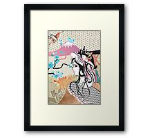 She could but wish... Framed Print