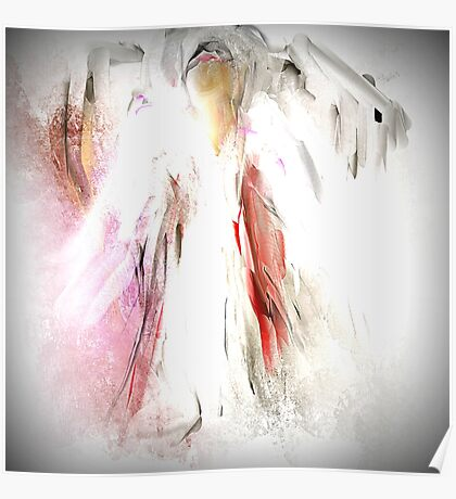 Abstract Angel in White Poster