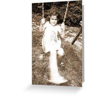 Girl on Swing Greeting Card