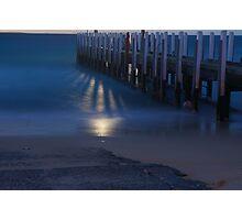 Moonlight Pier Photographic Print