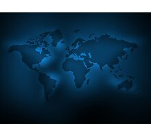 Black and blue map Photographic Print