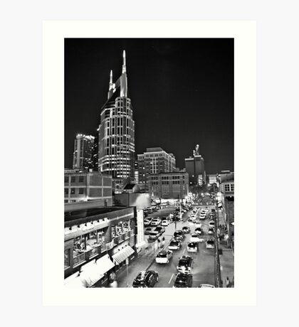 2ND AVE / NASHVILLE Art Print
