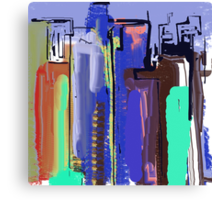 Abstract City View Canvas Print