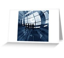 abstract business illustration with globe Greeting Card
