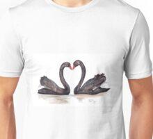 Black Swan Pair Unisex T-Shirt