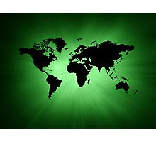Green map Photographic Print