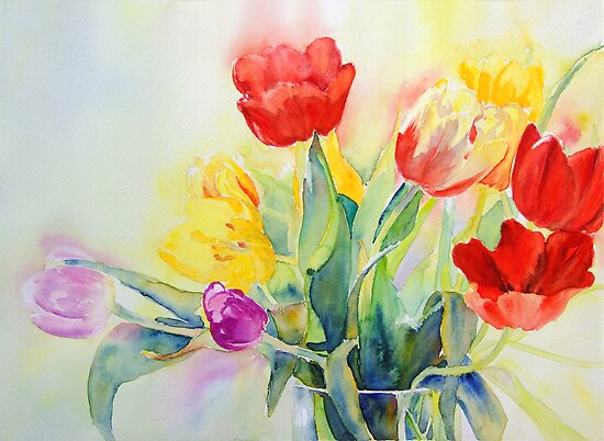 Tulip Rainbow #2 by Ruth S Harris