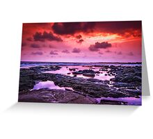 Volcanic Sunset 2.0 Greeting Card