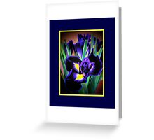 A Different View of Irises Greeting Card