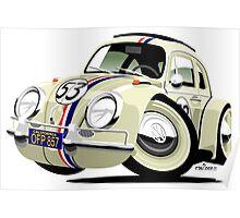 VW Beetle Herbie the Lovebug Poster