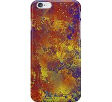 Abstract in Blue, Red, and Gold iPhone Case/Skin