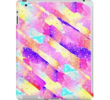 Abstract colorful rainbow watercolor brushstrokes iPad Case/Skin