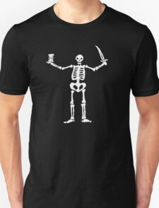 Black Sails Pirate Flag White Skeleton T-Shirt